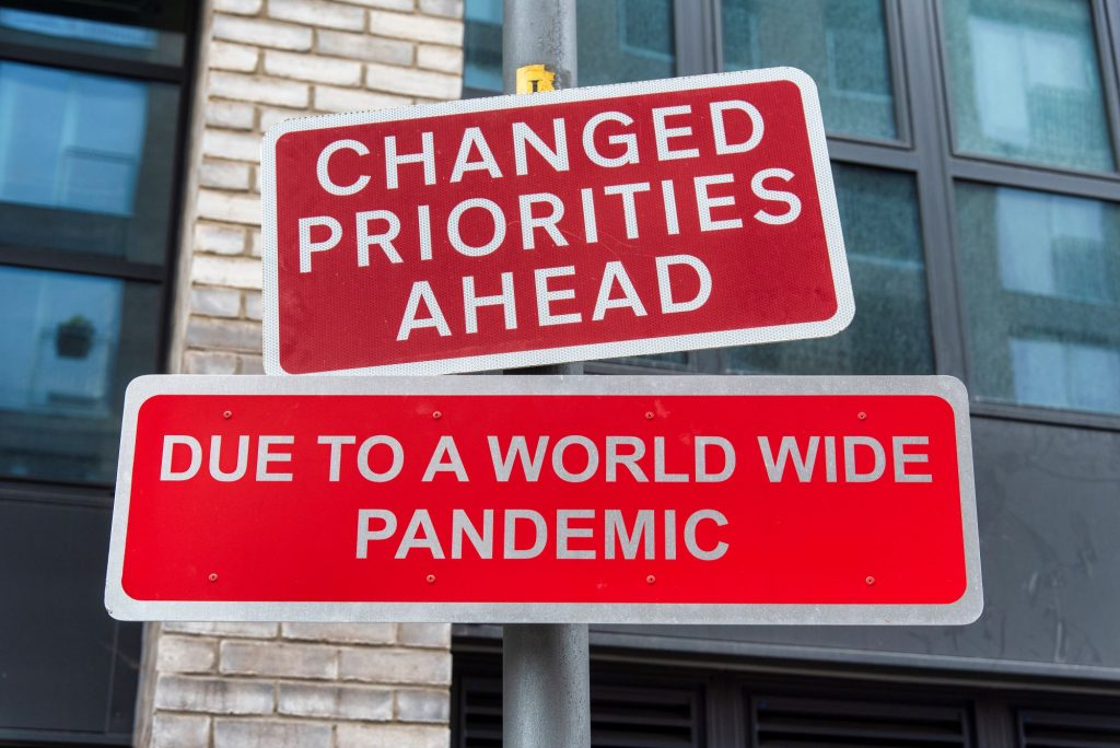A funny road sign altered by a prank in Hackney Wick, London