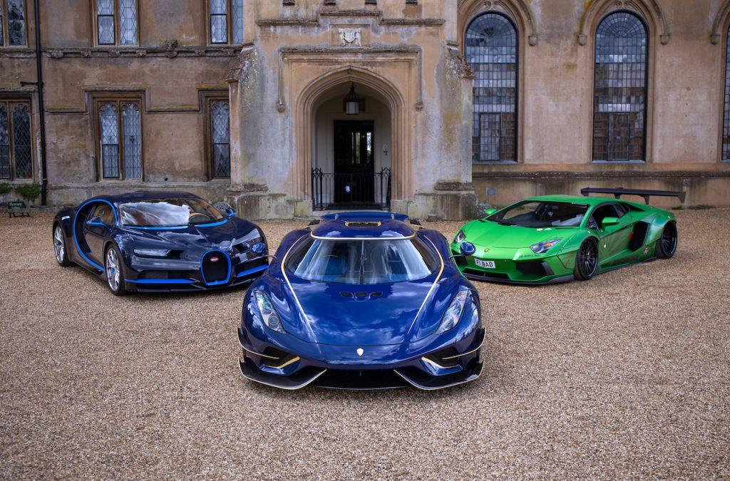 The Bugatti Chiron, Koenigsegg Regera and Lamborghini Aventador Liberty Walk