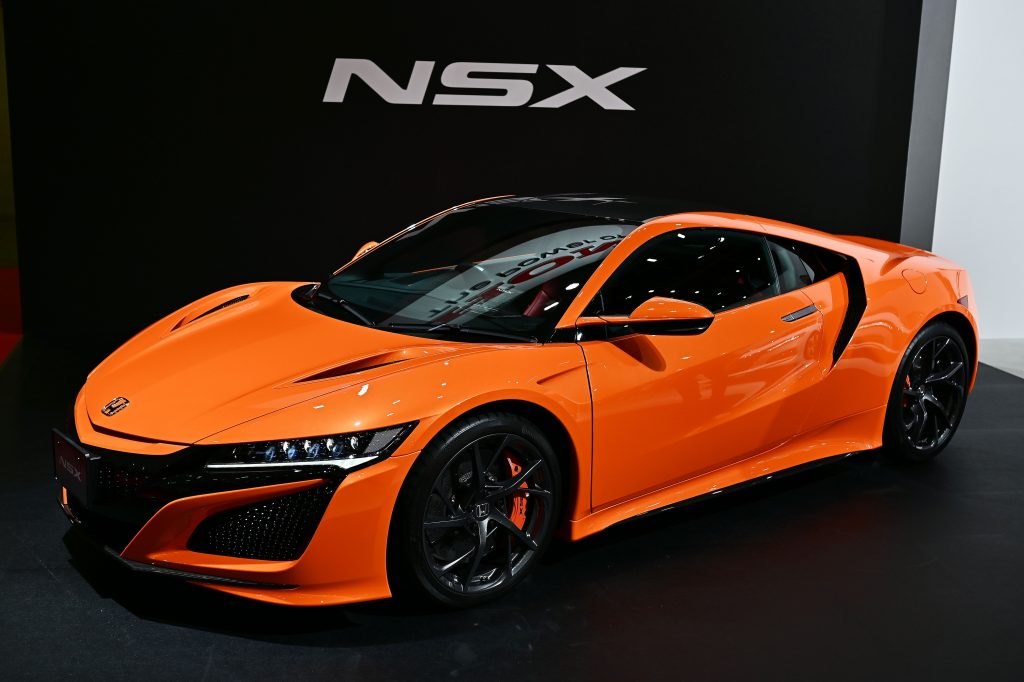The Honda NSX car is pictured at the Tokyo Motor Show in Tokyo