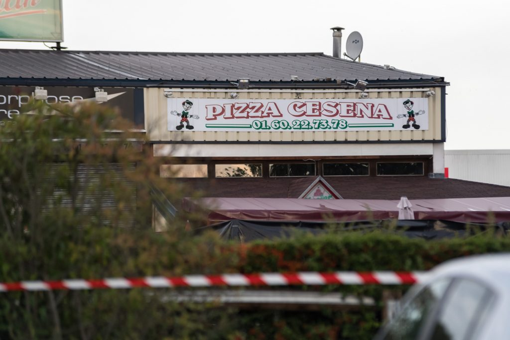 A pizzeria car crash killed a 13-year-old girl and seriously injured 13 others near Paris, France, in August 2017