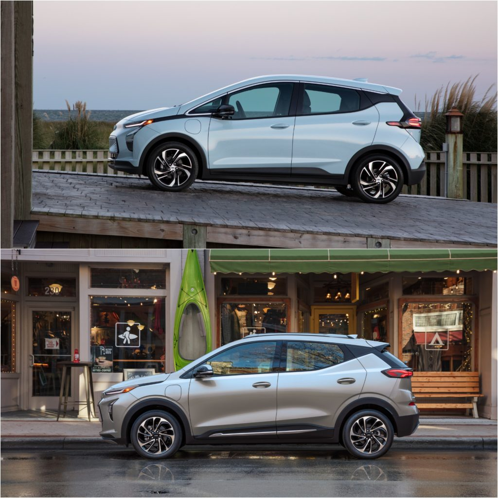 2022 Chevy Bolt EV and 2022 Chevy Bolt EUV Electric Cars