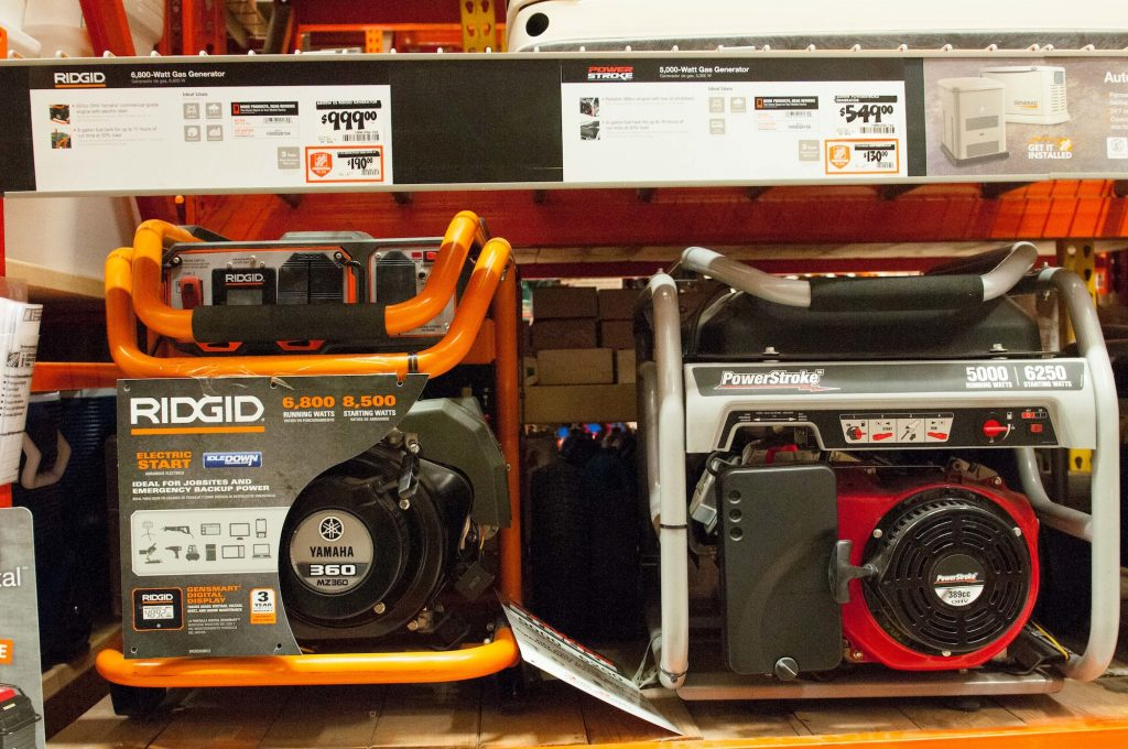 Portable generators on store shelves in South Florida in 2015