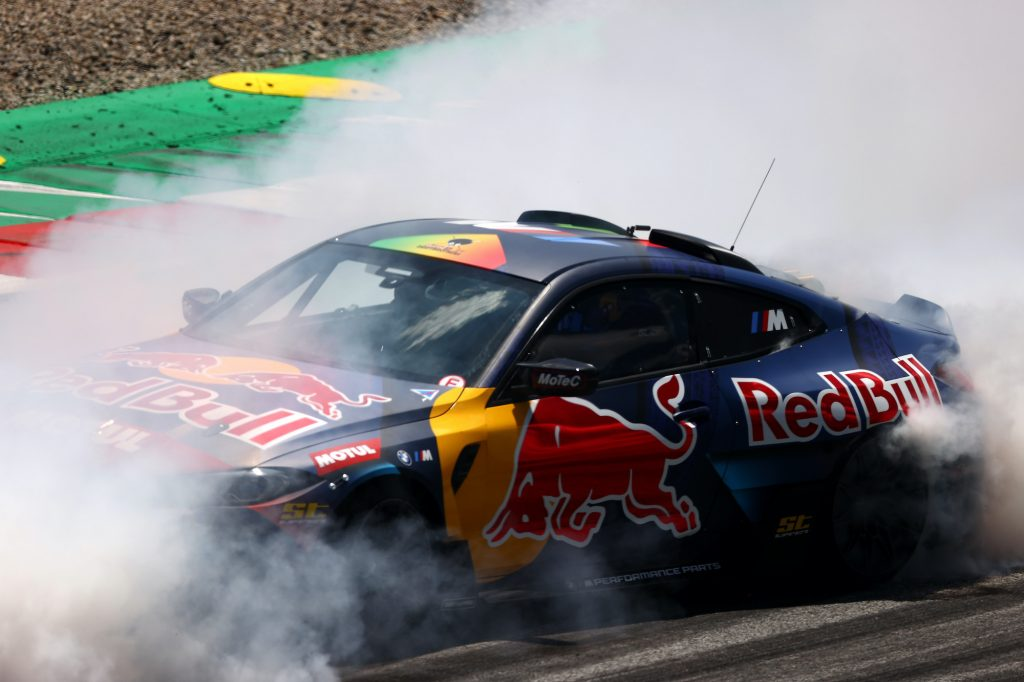 The Red Bull Drift Brothers perform after final practice ahead of the F1 Grand Prix of Austria