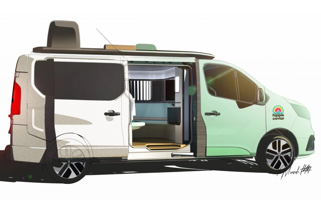Renault's new compact camper van concept rendering was made to show glamping fans that there is something coming for them.