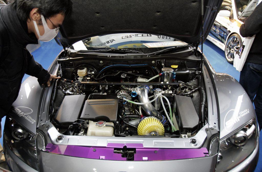 Mazda RX-8 rotary engine coupe engine bay