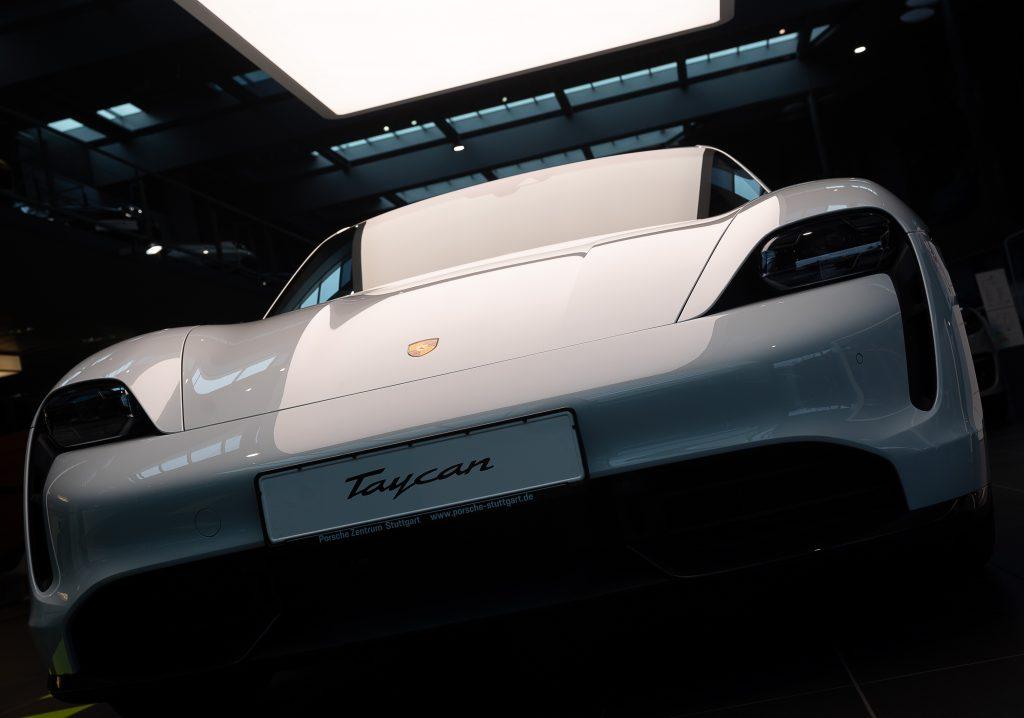 An electric Porsche Taycan Turbo S