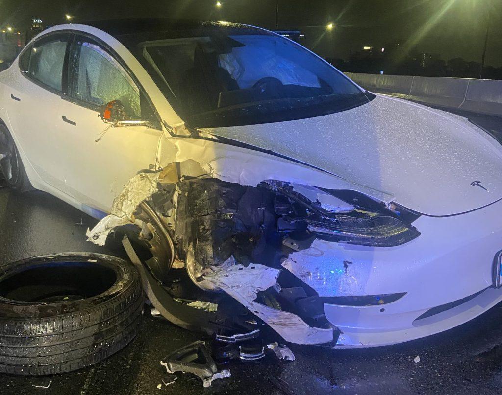 Model 3 Using Tesla Autopilot