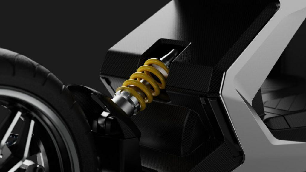 Zapp i300 spring suspension