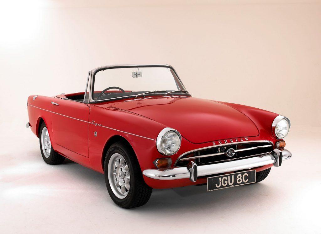 A red 1965 Sunbeam Tiger MKI
