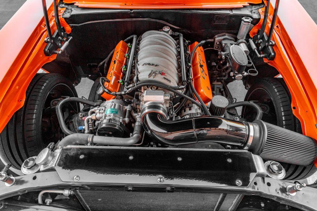 Eddie Van Halen's 1970 Chevy Nova LSX engine