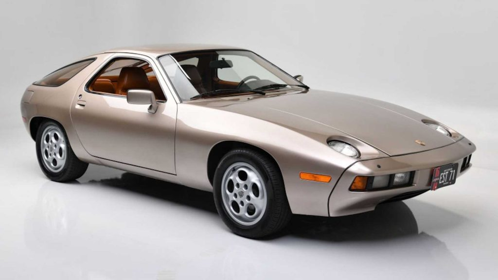 This is the gold 1979 Porsche 928 that Tom Cruise drove in the film Risky Business.