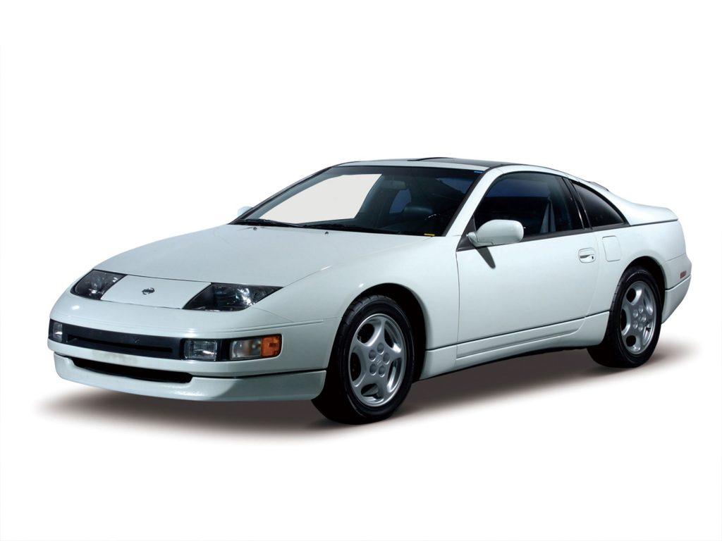 A white 1992 Z32 Nissan 300ZX Twin Turbo