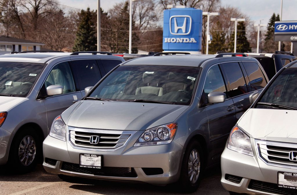 2010 Honda Odyssey minivans for sale at O'Hare Honda in in Des Plaines, Illinois, in March 2010