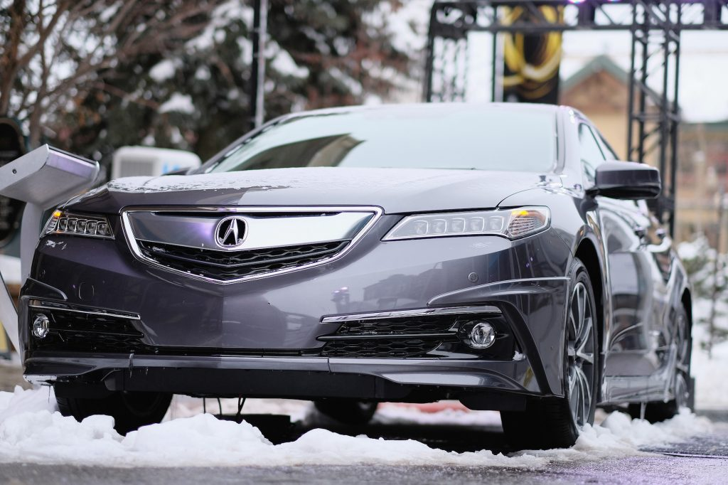 A 2017 Acura TLX on display at the 2017 Sundance Film Festival in Park City, Utah