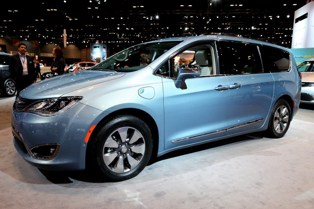 2017 Chrysler Pacifica eHybrid on display at the 109th Annual Chicago Auto Show in February 2017