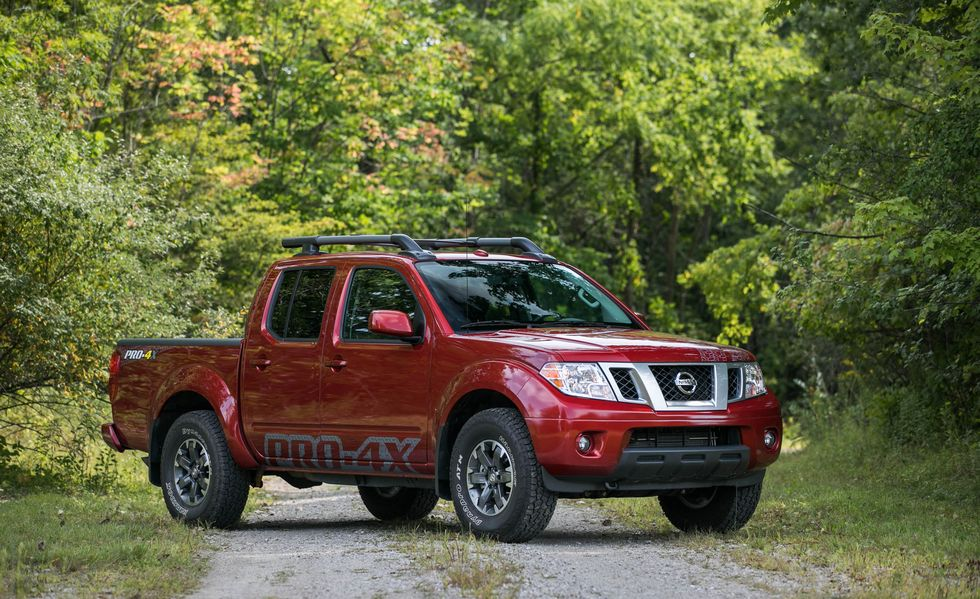 The 2017 Nissan Frontier Pro-4X in the woods