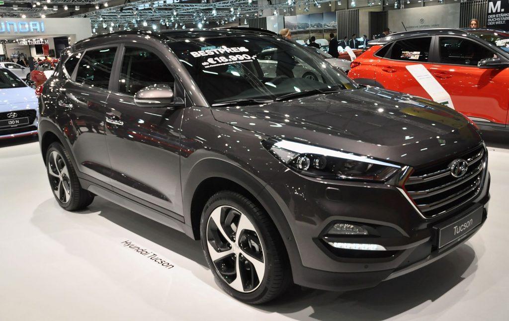 The 2018 Hyundai Tucson at the Vienna Holiday Fair in Vienna, Austria
