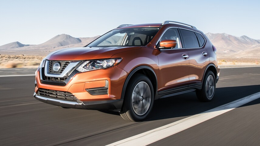 The 2019 Nissan Rogue on the road