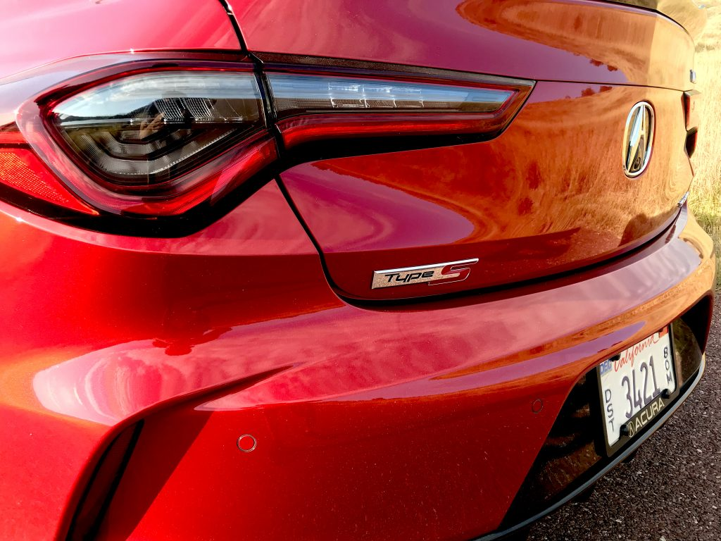 A close shot of 2021 Acura TLX Type S badging