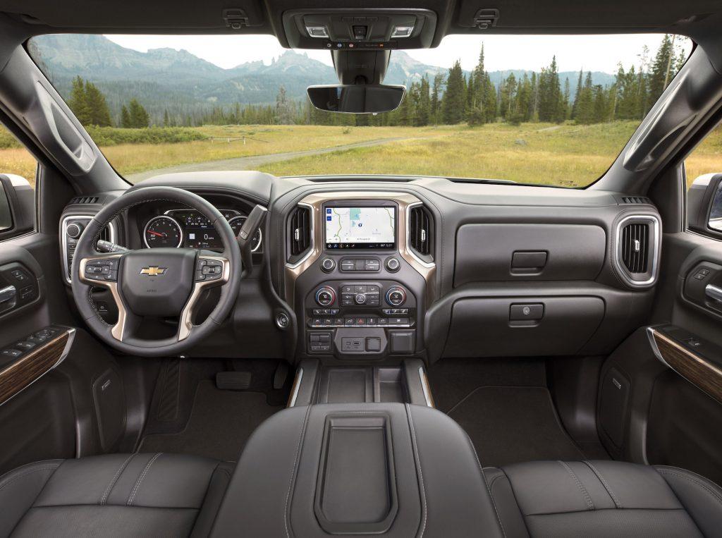 Interior of a 2021 Chevy Silverado High Country