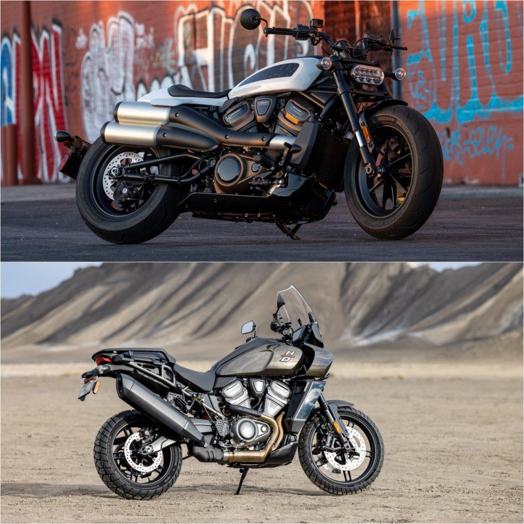2021 Harley-Davidson Sportster S (Top) And 2021 Harley-Davison Pan-America (Bottom)