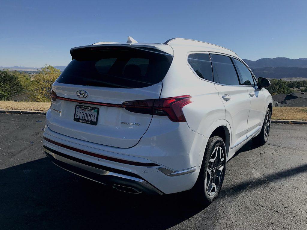2021 Hyundai Santa Fe  rear quarter shot