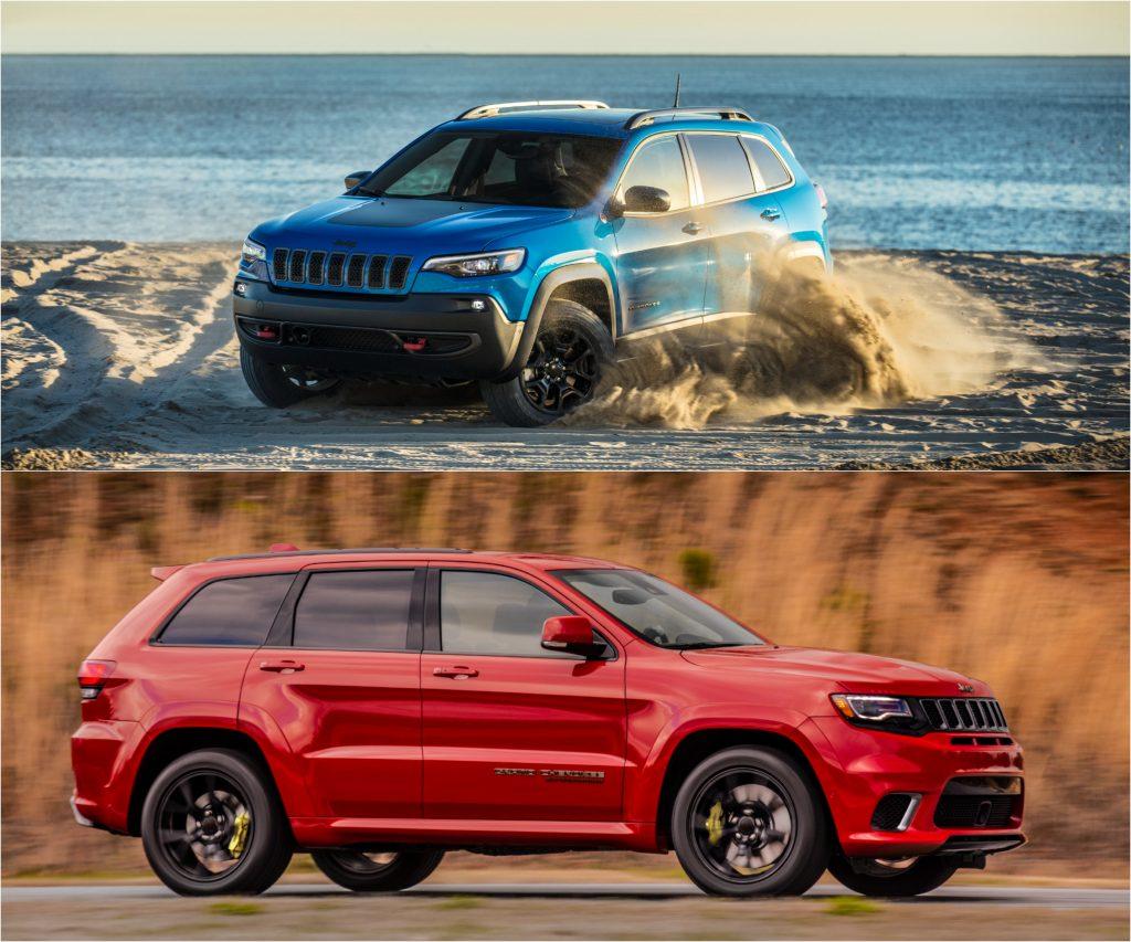 2021 Jeep Cherokee (Top) and 2021 Jeep Grand Cherokee (Bottom)