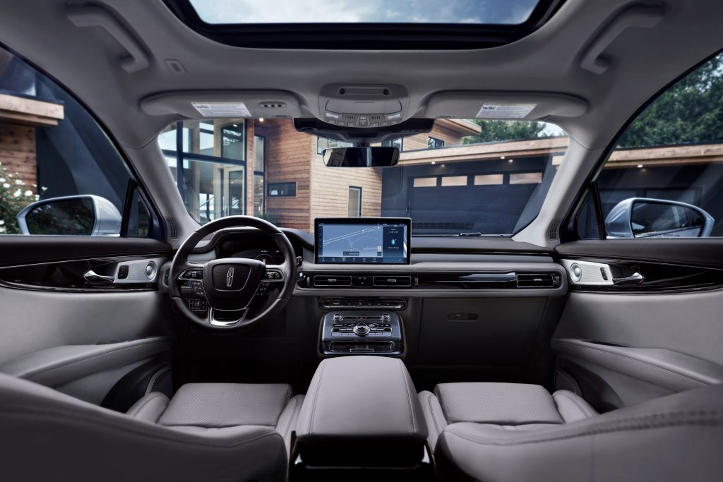 The gray interior of a 2021 Lincoln Nautilus