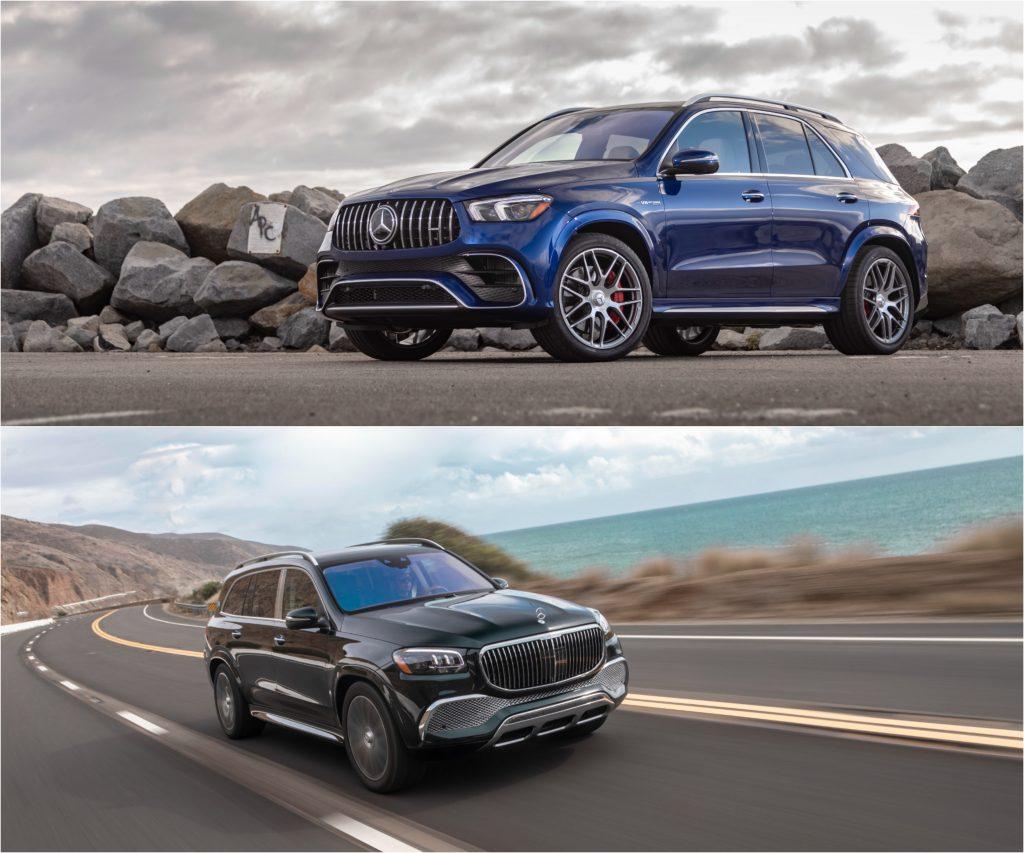 2021 Mercedes-Benz GLE (Top) and 2021 Mercedes-Benz GLS (Bottom)