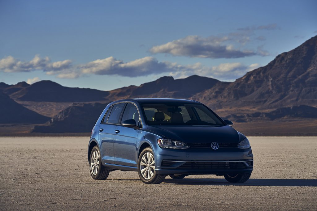 2021 Volkswagen Golf. Cars like this from VW were targets of the dieselgate scandal