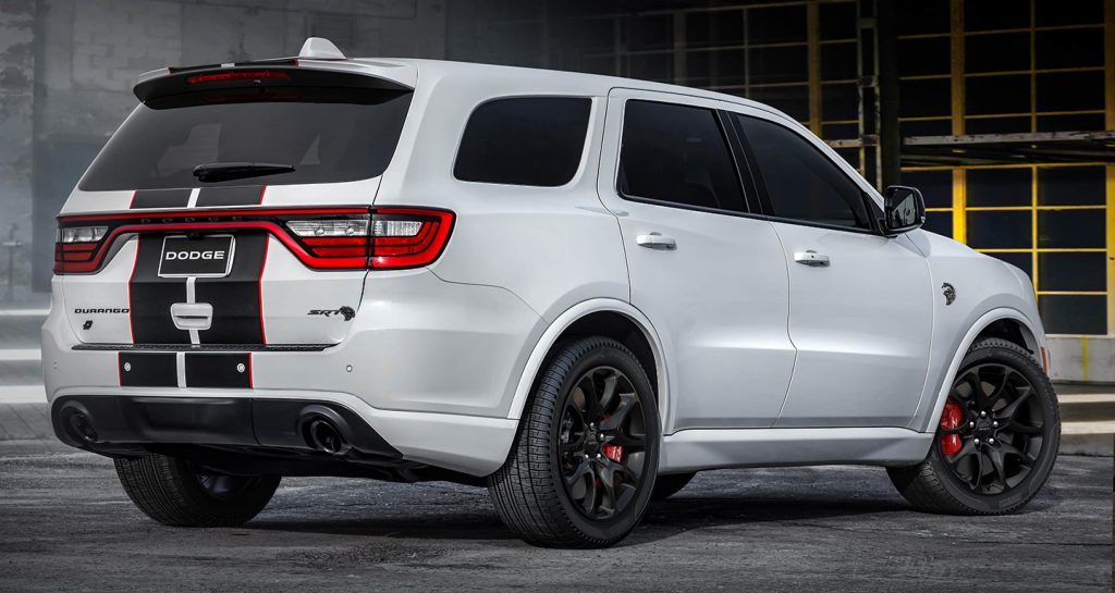 The 2021 Dodge Durango from the rear