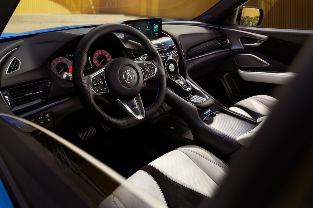 The upgraded interior of an all new 2022 Acura RDX