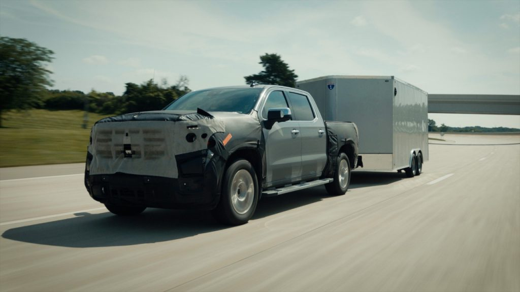 Camouflaged image of 2022 Chevy Silverado