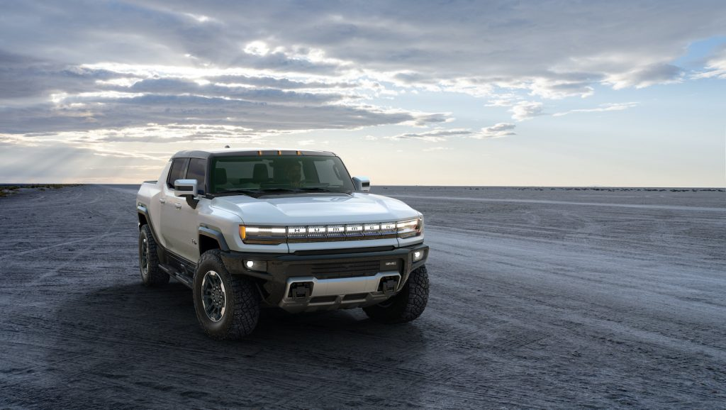This is a publicity shot of the GMC Hummer EV. How will it compare to the Tesla Cybertruck and Ford F-150 Lightning electric truck?