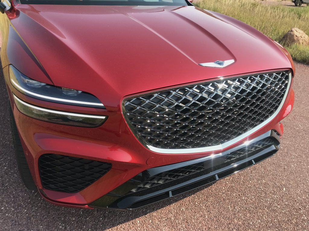 2022 Genesis GV70 front detail shot for the review