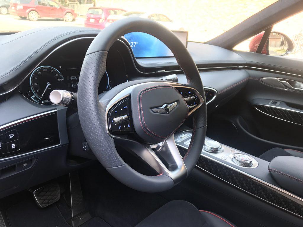 2022 Genesis GV70 steering wheel