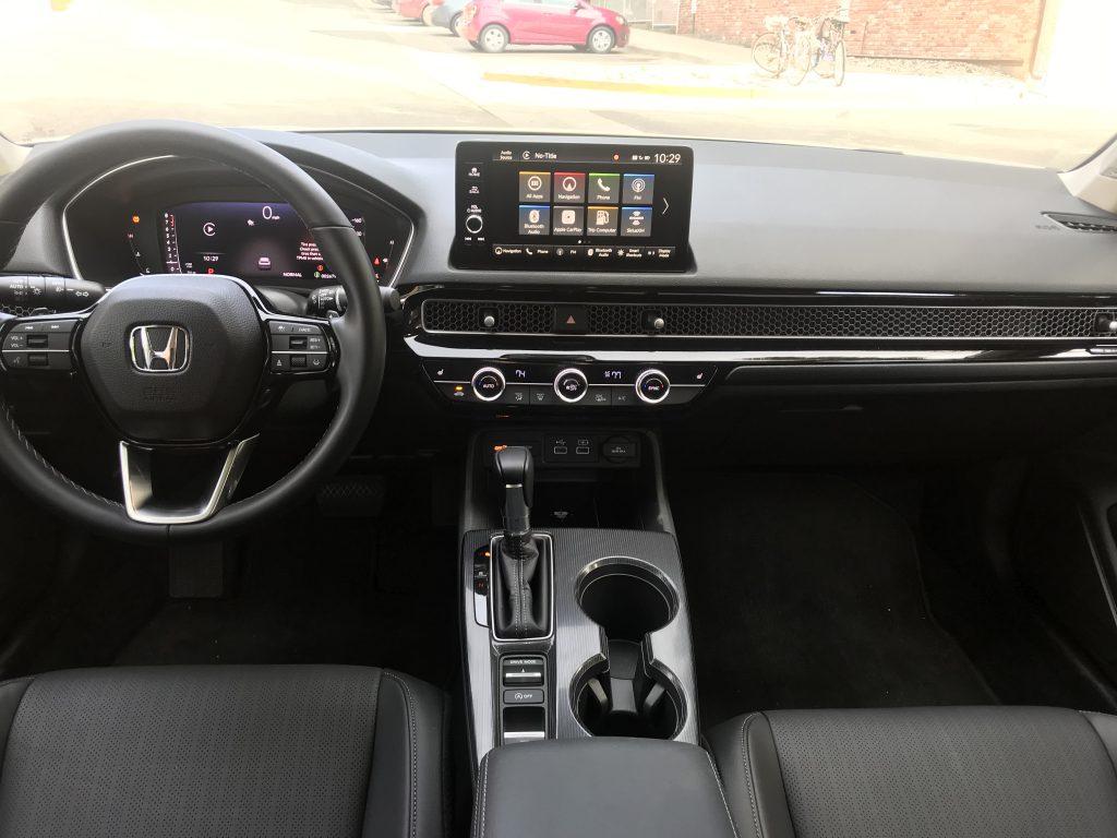 2022 Honda Civic Touring interior overview