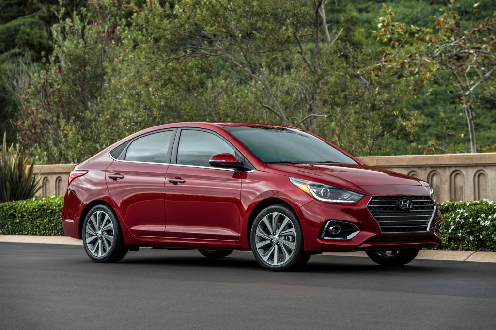 The Hyundai Accent gets great gas mileage