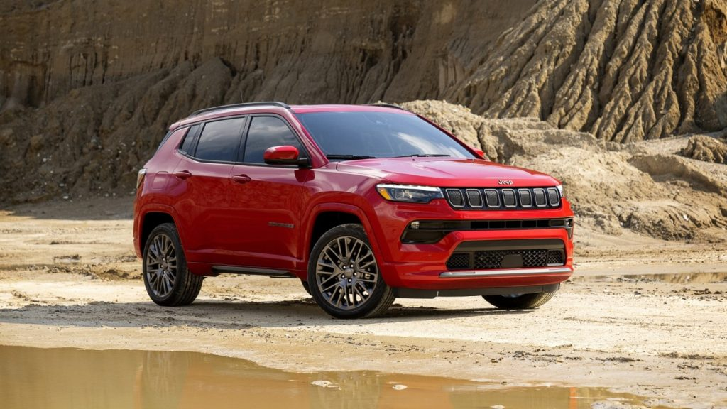 The 2022 Jeep Compass RED Edition in the dirt