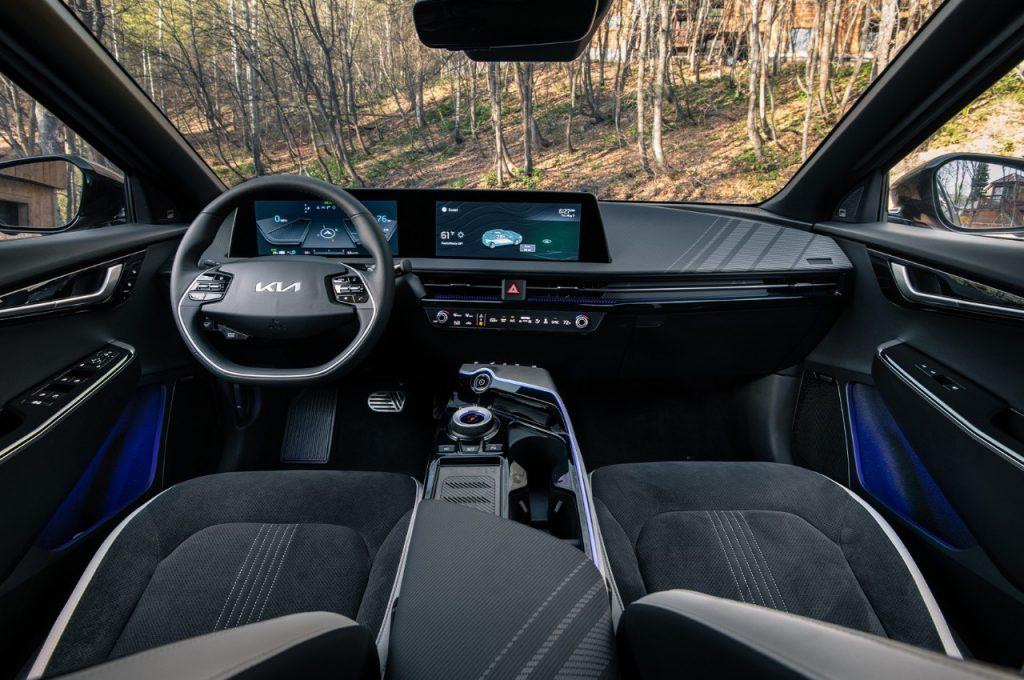 2022 Kia EV6 crossover interior