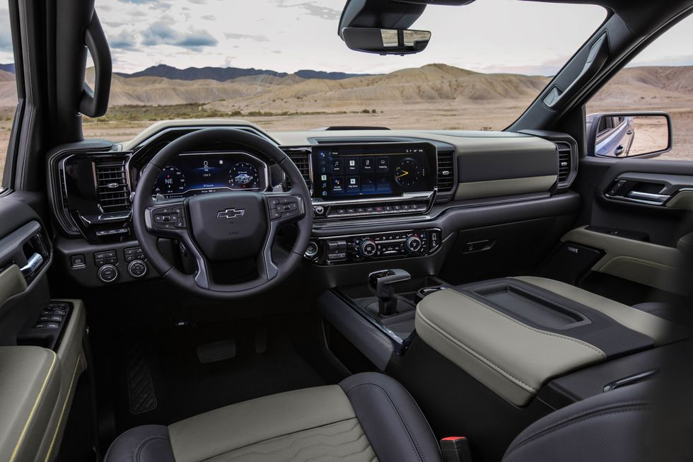 2022 Chevy Silverado ZR2 interior
