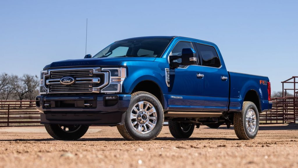 2022 Ford F-350 in the dirt
