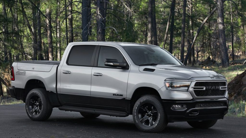 The 2022 Ram 1500 BackCountry Edition parked near woods