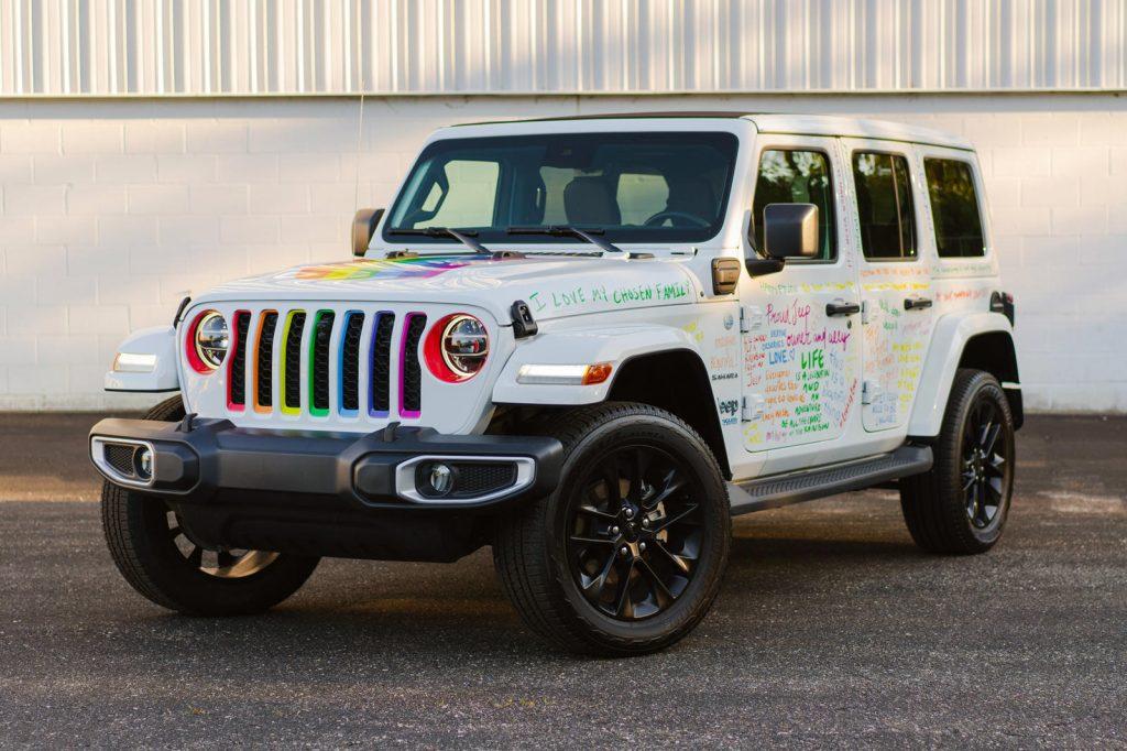 The rainbow 2021 Jeep Wrangler 4xe celebrates pride