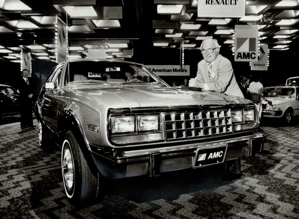 The new AMC Eagle introduction with American Motors president Bill Pickett