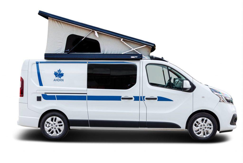 profile view of the Ahorn camper van