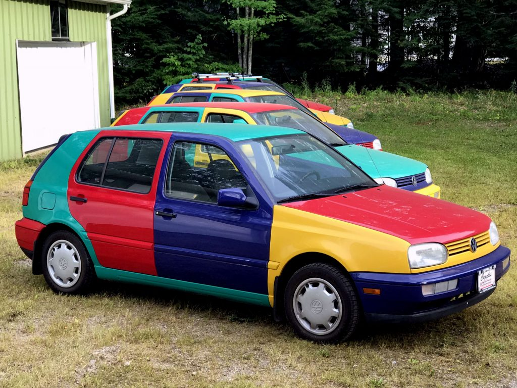 All Four 1996 Volkswagen Golf Harlequin Configurations in North America