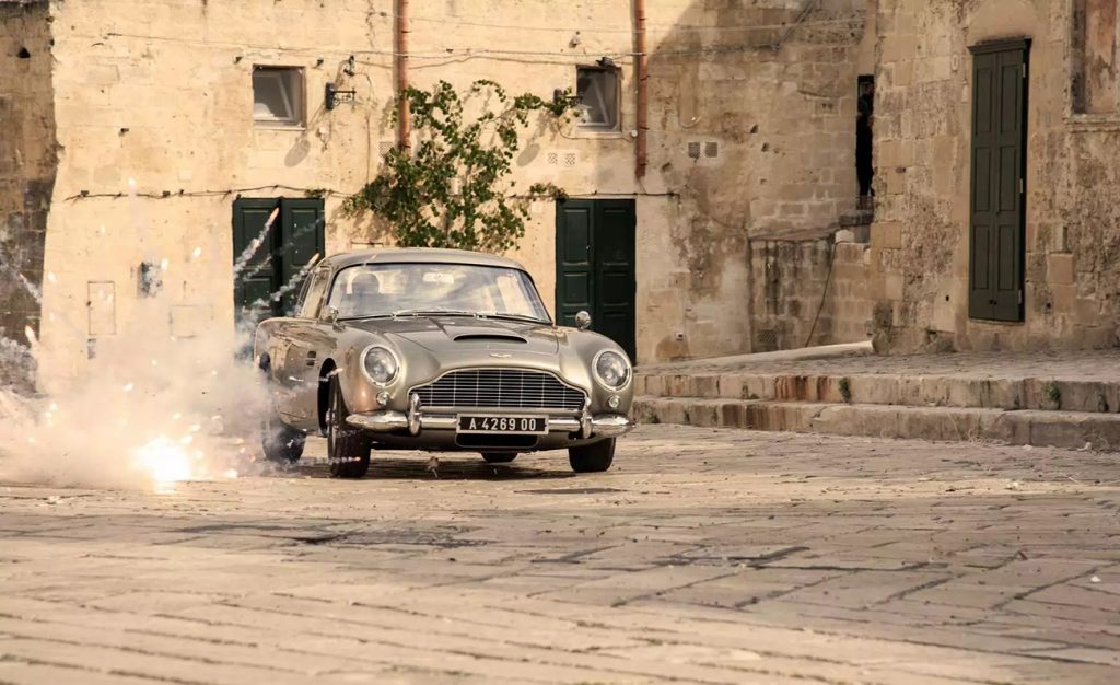 1964 Aston Martin DB5 as seen in the James Bond film No Time To Die