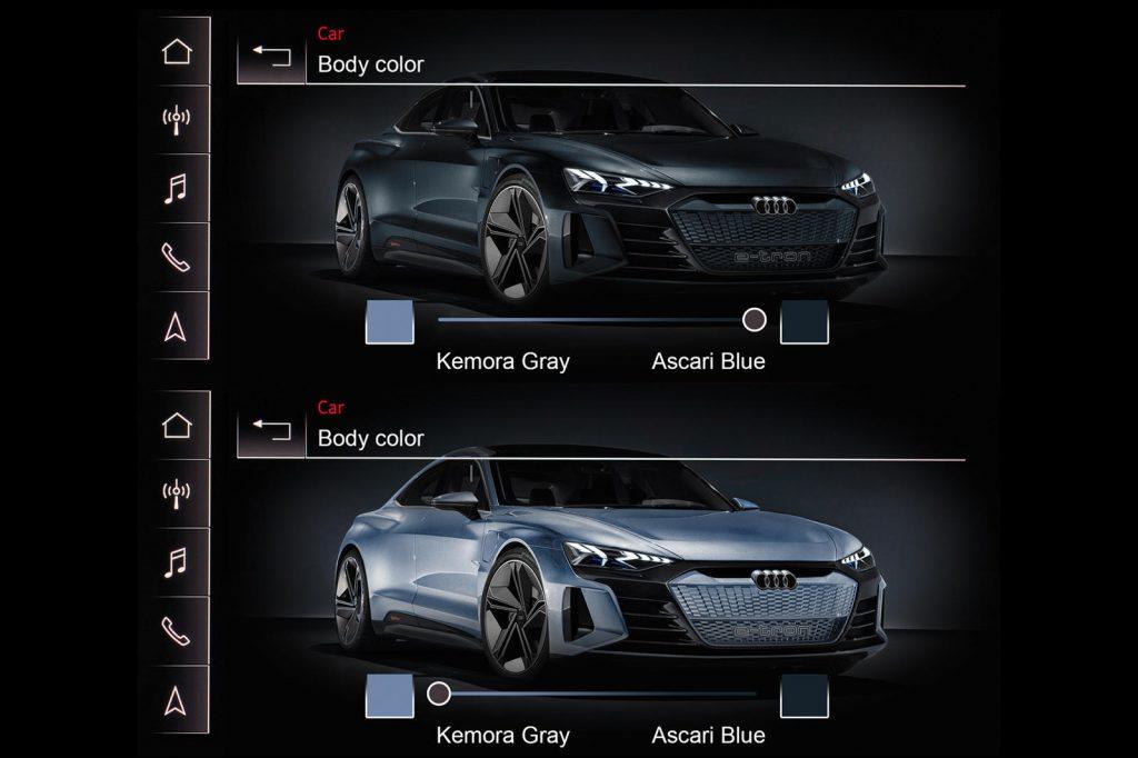 Audi color-changing paint