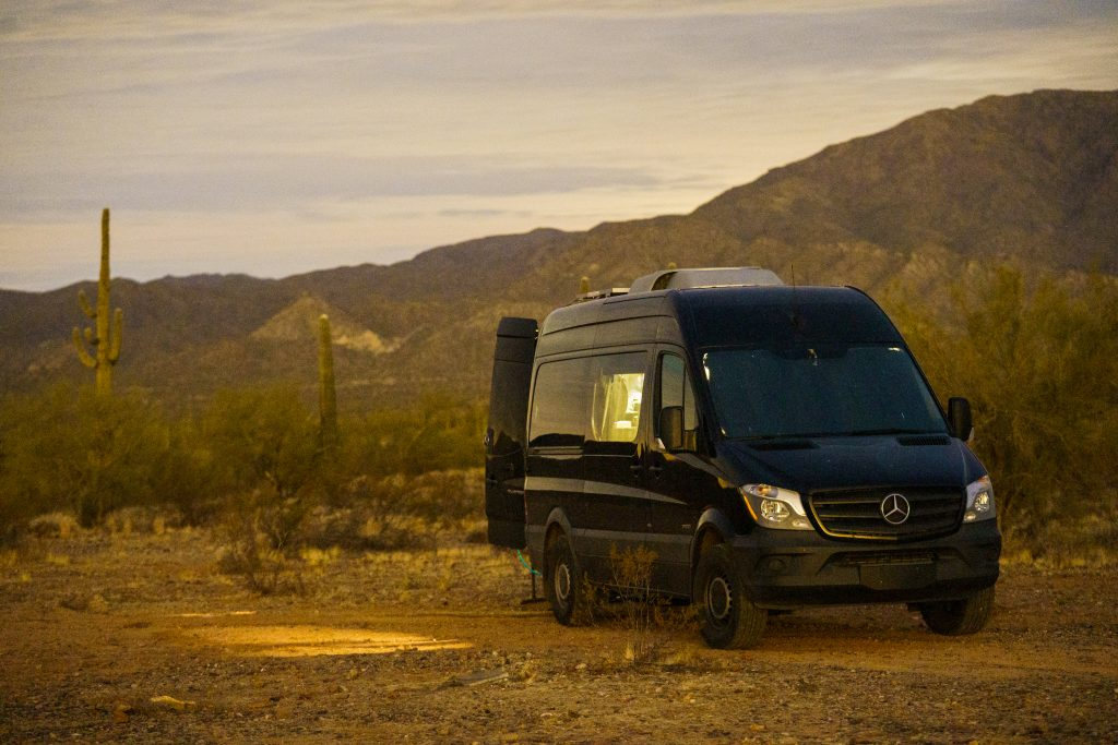 Camper Van Parked On Bureau of Land Management Property is a briliant look into what it's like to work remote and live the van life